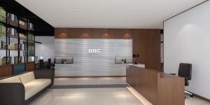 珠江大厦办公室ballbet贝博app下载,密集型现代风格办公室,简单实用!